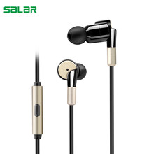 Salar S990 Shocking In-Ear Earphone Metal Heavy Bass Music Sport Earbud with Mic Vibrating Gaming Headset for Mobile Phone(China)