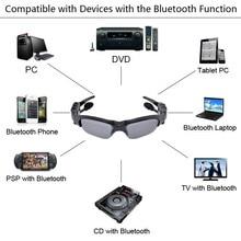 Auricular Bluetooth gafas de Sol + 8 GB tarjeta de Memoria + DV DVR Cámara de vídeo + Reproductor de MP3 de alta resolución 200 w Mini Videocámaras grabadora
