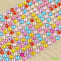 HAPPYXUAN 5sheets/pack 206 pcs 6mm Mosaic Crystal Diamond Stickers Children Handmade Craft Materials for Girls  Funny Toys