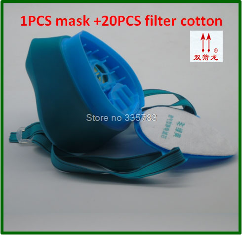 high quality respirator dust mask 1PCS mask + 20 PCS Filter cotton filter mask Silica gel dust respirator brand technology dust mask set mask goggles 1pcs filter cotton pm2 5 respirator dust mask welding polished n95 respirator mask