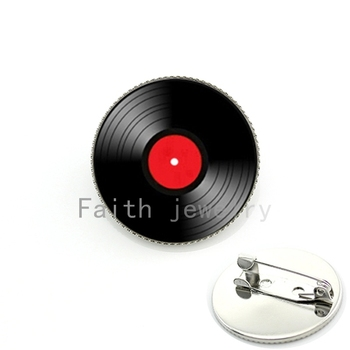Vinyl Record LP DJ for Men. Retro Mus Art Pture lass Cabochon dome Brooch Pins for Him or her Fashion Jewelry ift harvey straight talk no chaser