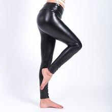 a5042892522dd Imitation cuir Solide Grande taille Épaississement Leggings PU Chaud Mince  Pantalon lady pantalon De Mode femmes Élastique Paque.