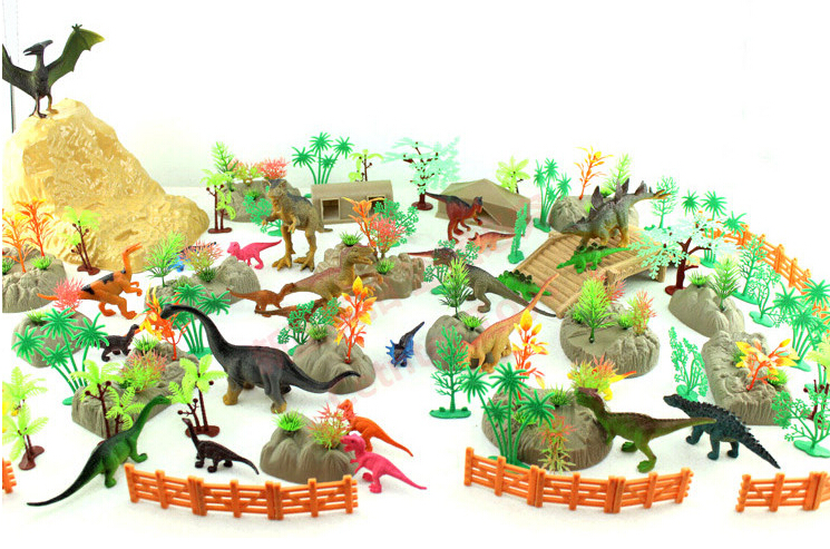 200pcs/lot Dinosaur Toy/Wildlife Model Set Plastic Play Toy Dinosaur Model Action Figures Best Gift for Boys 12pcs lot dinosaur toy set plastic dinosaur world play toys dinosaur model action