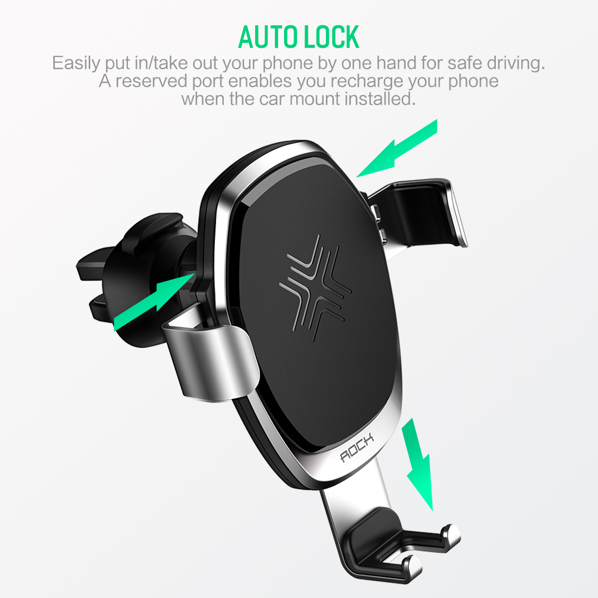 HTB1M1n2vRjTBKNjSZFwq6AG4XXal - 10W QI Wireless Car Charger Gravity Holder , ROCK for iPhone X 8 Plus Samsung Galaxy S8 S7 Note 8 Quick Charge Charging Stand