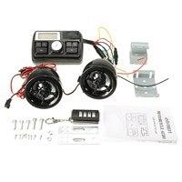 Anti Theft Motorcycle Handlebar Audio System Alarm MP3 Player Speaker FM USB SD
