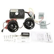 Sistema de Alarma Anti-robo de Manillar de La Motocicleta de Audio MP3 FM Del Altavoz Del Jugador de USB/SD