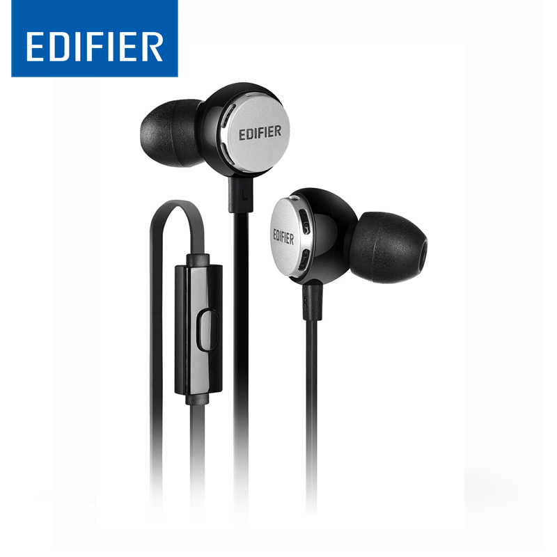 Edifier P293 In-Ear Earphone High end Bass Headset Flashy style HIFI Earphone with inline mic for iphone Xiaomi Smartphones edifier p180 earphone with mic bass stereo headset hands free wired control earpiece hifi earbuds for smartphones
