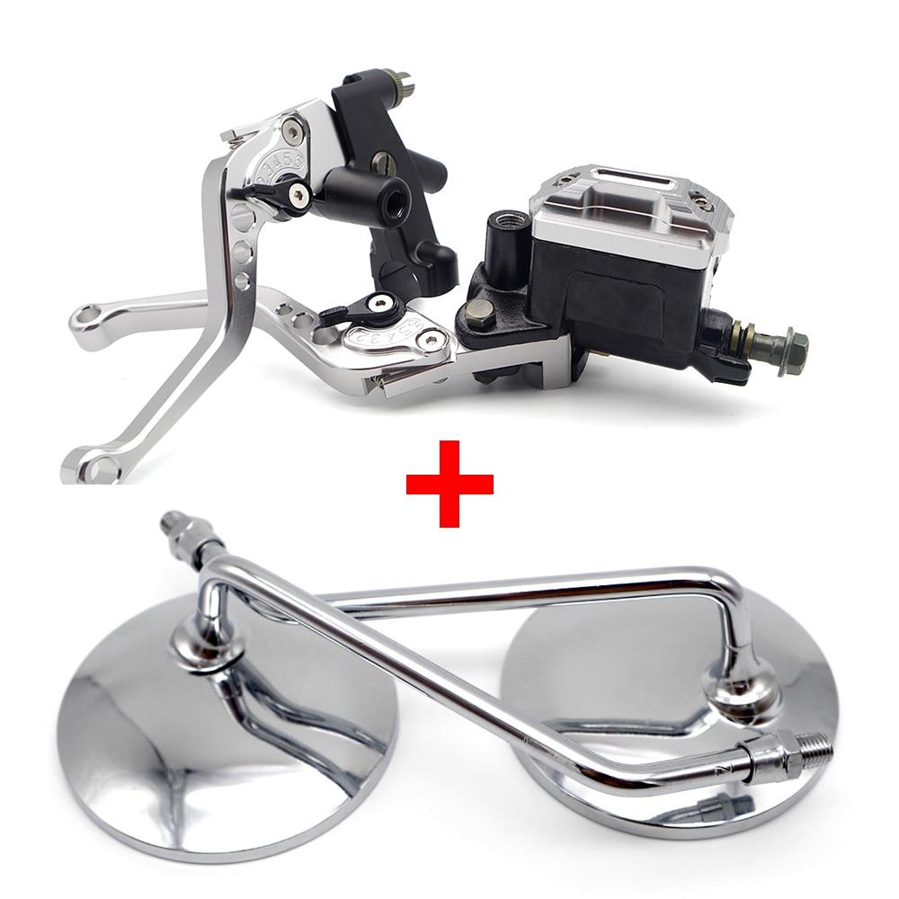 Motorcycle Brake Clutch Lever Hydraulic Pump motorcycle mirror for suzuki gs 500 honda bros ducati 1098