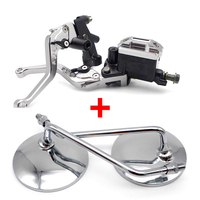 Motorcycle Brake Clutch Lever Hydraulic Pump motorcycle mirror for suzuki gs 500 honda bros ducati 1098 bmw r1200r yamaha tmax