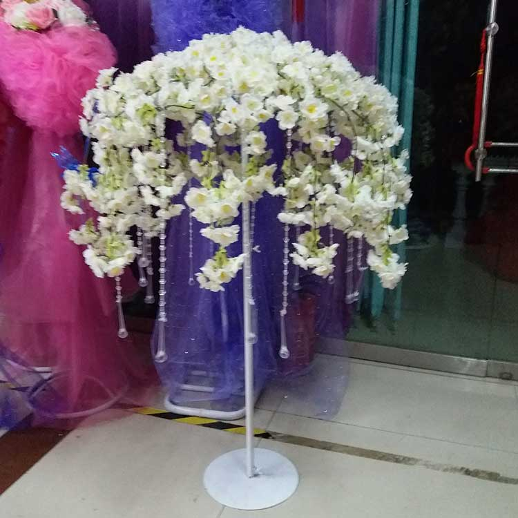 centerpieces vase tall cm decorations stands crystal frame vases beads pcs garden