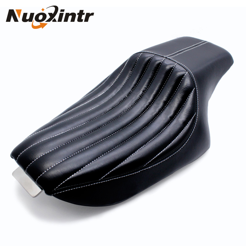 Nuoxintr Motorcycle Driver Front Rear Passenger Seat Two Up Seat For Harley Davidson Sportster XL 883 1200 Forty-eight 2004-2016