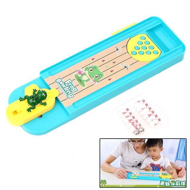 Мини Лягушка Боулинг бильярдный игровой дом игрушка креативные настольные игрушки Интерактивная забавная настольная игра для детей развивающие интеллект