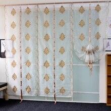 Тюль в современном европейском стиле с вышивкой, занавеска для спальни, гостиной, панель для домашнего декора, прозрачная белая мягкая занавеска на окно