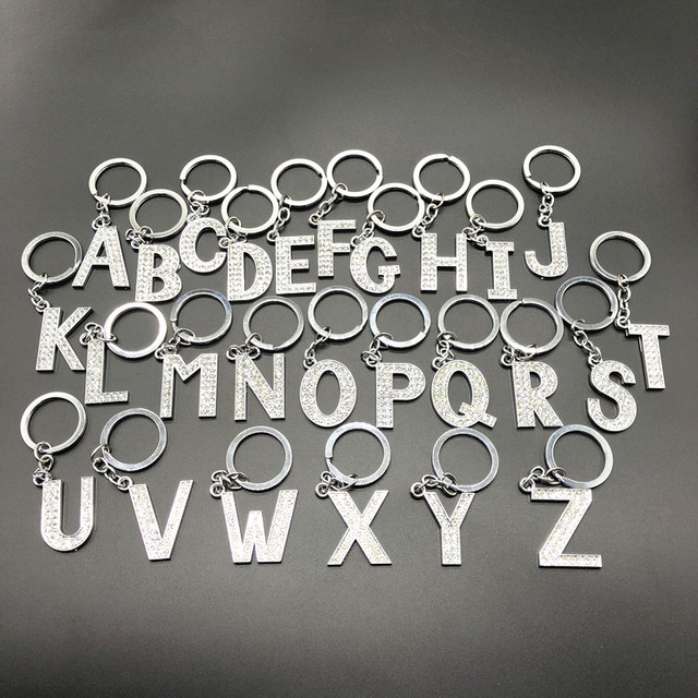 Hot A-Z 26 Carta DIY Chaveiro Melhores Amigos Casal Namorada Namorado Presente Keychain Da Forma Dos Homens e das Mulheres