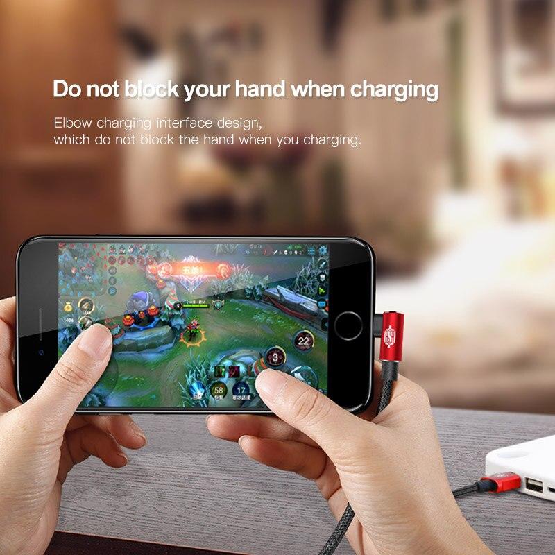 Кабель USB Baseus 90 градусов для iPhone Xsmax Xs Xr X 8 7 6 6s 5 5S SE Быстрая зарядка кабель для передачи данных кабели для мобильных телефонов