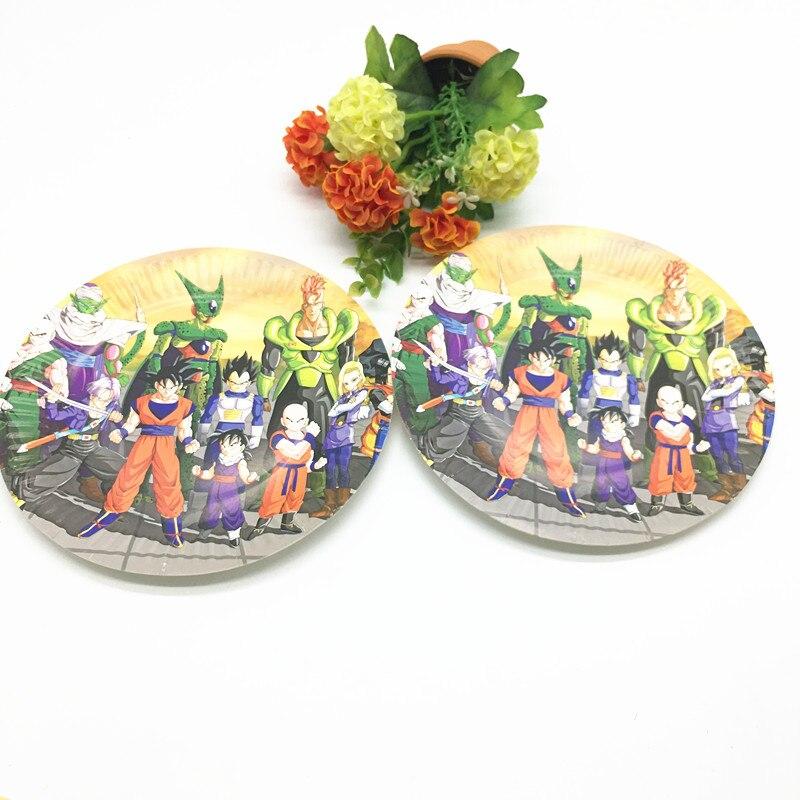 10pcs/lot Dragon theme plates kids birthday party supplies