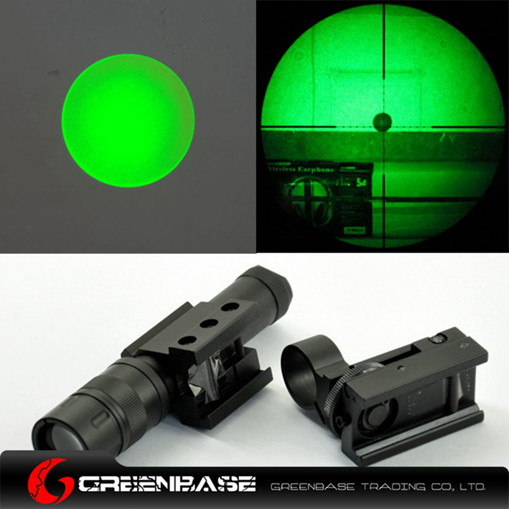 Greenbase Tactical Zoom Gun Flashlight Combo Scope Green Laser Light Night Hunting For Rifle Pistol 20mm Weaver Rail greenbase m600v ir scout light white light and ir output weapon light led flashlight hunting 400 lumens flashtorch 20mm rail