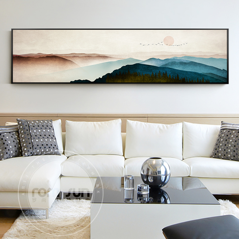 New Chinese Style Mountains Canvas Painting Modern Landscape Posters And Print Wall Art Cuadro Decor For Living Room Bedroom
