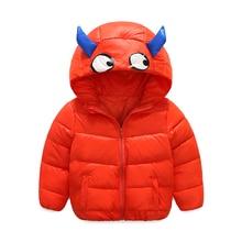 2017 winter children's new authentic cartoon small monster down jacket children down jacket 4 color optional