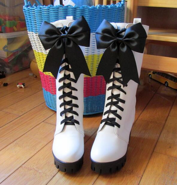 Customize Boots Anime Kuroshitsuji Black Butler Boots Book of Circus Cosplay Boots Ciel Phantomhive Cosplay Shoes