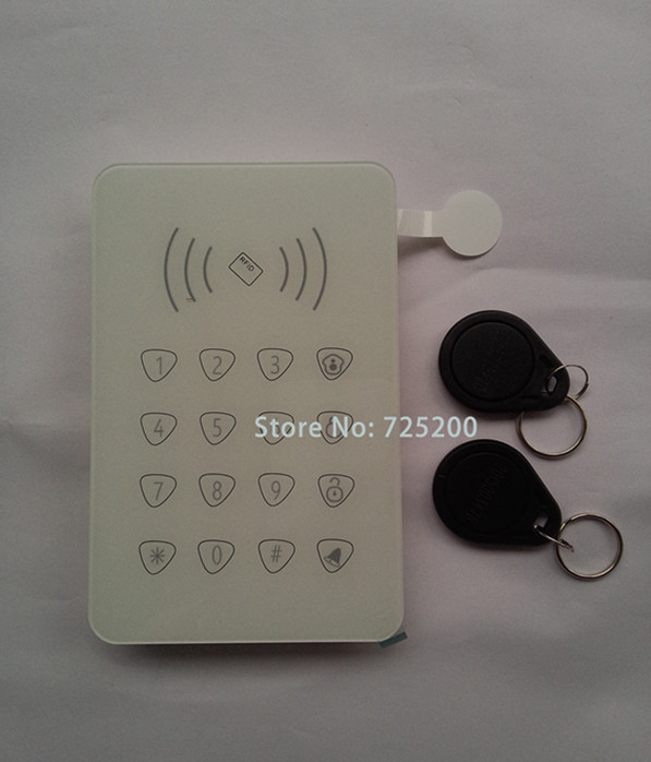 ФОТО 433MHz Wireless Password Keypad Touchscreen with Doorbell and RFID Card Swipe For G90E G90B wifi gsm alarme systems