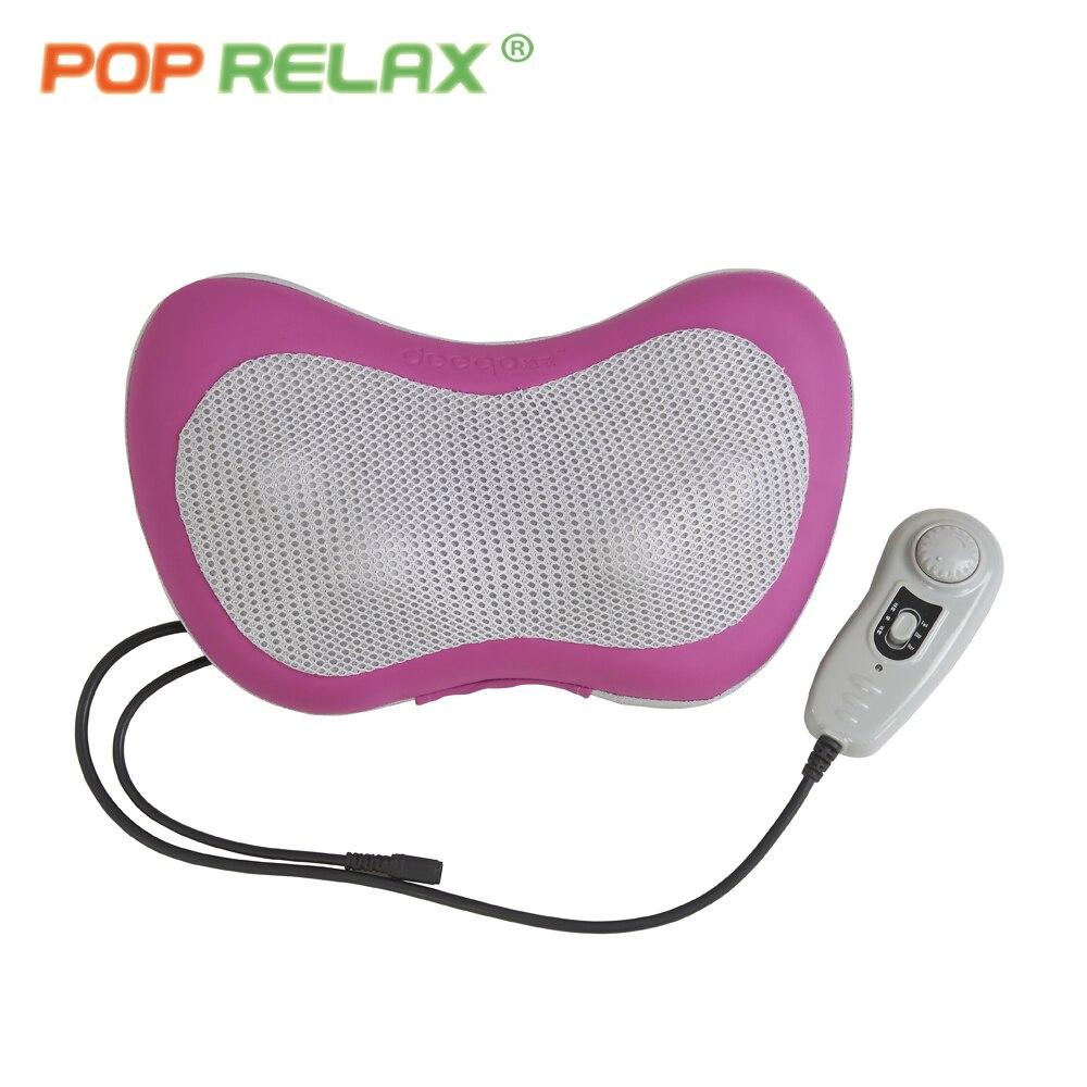 POP RELAX réel jade rouleau de massage oreiller électrique infrarouge chauffage papillon cou masseur pour le corps soulagement de la douleur exclusive
