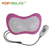 POP RELAX реального нефрита ролик массаж подушки Детские Электрический инфракрасный Отопление бабочка средства ухода за кожей шеи массажер