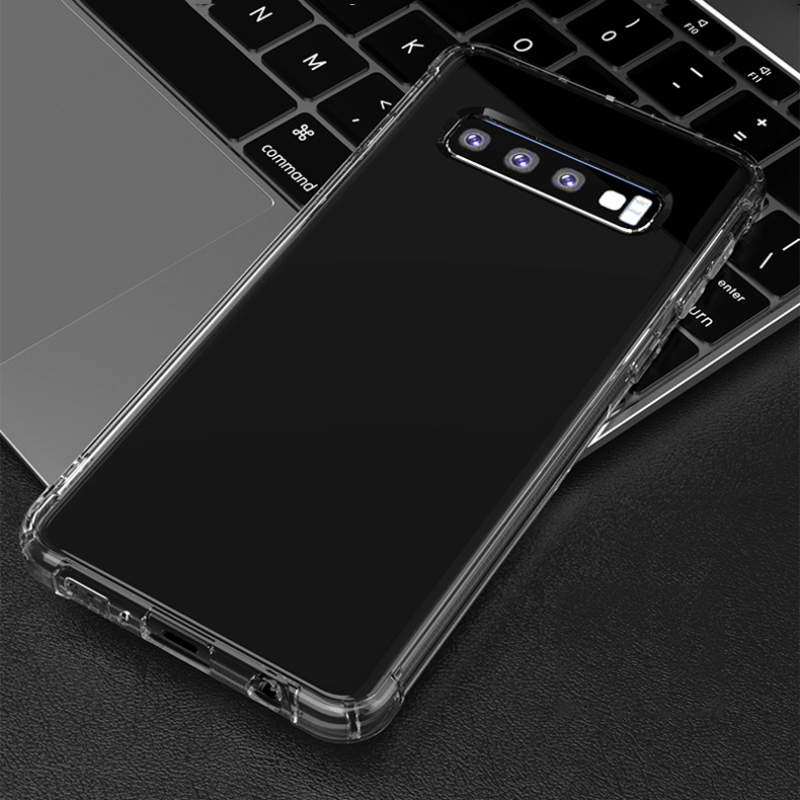 Clear Phone For Samsung Galaxy S10 E S9 S8 Plus Soft Anti-Skid Phone Cover Screen Protector For Samsung Galaxy S10 S9 Plus