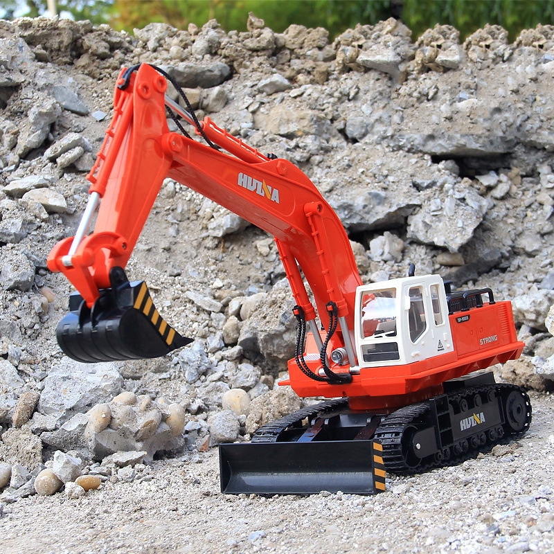 Channels Remote Excavating Machinery Boy An Excavator Charge Motor-driven Control Vehicle Toys without original box quality good engineer series motor driven remote control tuba excavating machinery e511 toys goods in stock without original box