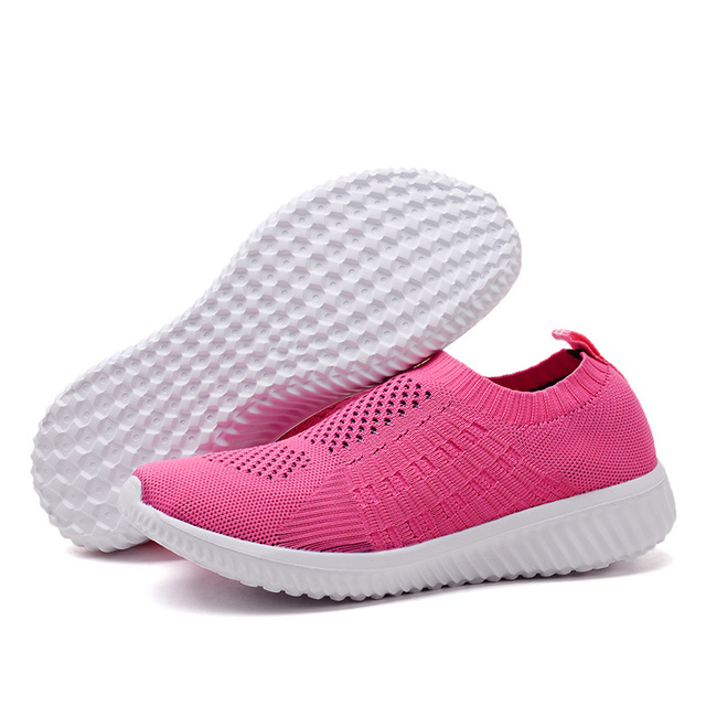 Autumn Winter Flats Casual Shoes Woman 2018 Fashion Breathable Women Sneakers Luxury Brand Designer Light Slip on Womens Loafers