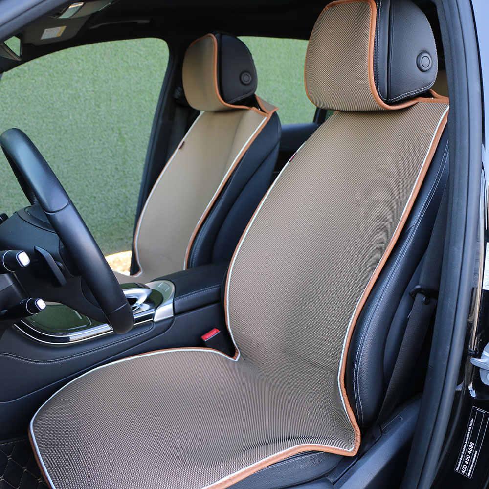 O 市車のシートカバー中空アウト通気性自動車シートクッション居心地クールな車のシートマント保護自動車内装