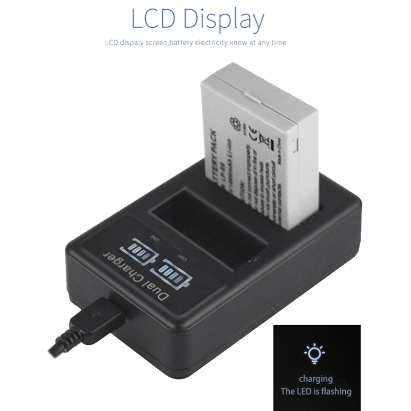 Image 3 - Lp E8 Camera Battery Charger Lp E8 Lcd Intelligent Display Dual Usb Charger Display For Canon Eos 550D 600D 650D 700D X4 X5 X6-in Camera Charger from Consumer Electronics