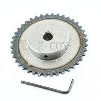 1 pièces 10mm alésage 40 dents 40 T métal pilote moteur engrenage rouleau chaîne entraînement pignon Pignons Bricolage -