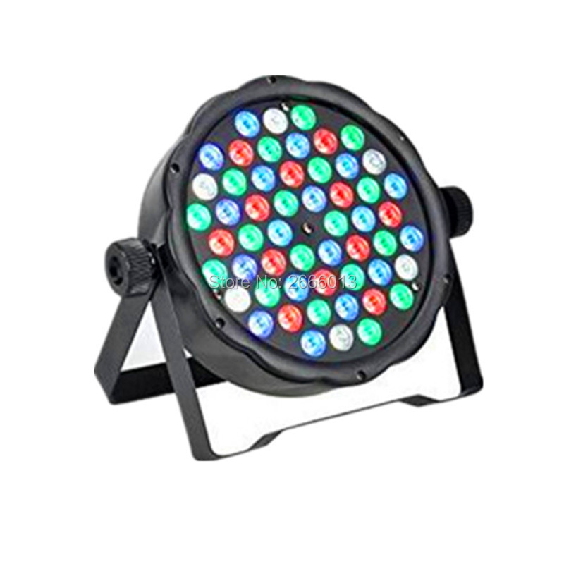 Free shipping DMX 54X3W Lamps RGBW LED Par Light For Disco Party DJ LED Projector Stage Strobe Lighting Effect Par led KTV lamp