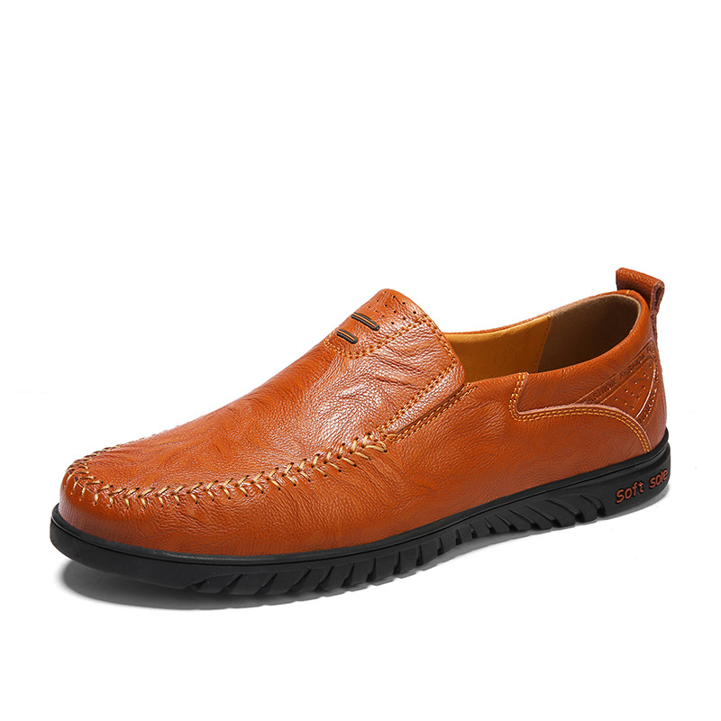 096d187a Genuino Slip Casuales Cuero 052 on Hombre amarillo Verano Zapatos 38  Respirables 47 Hombres Tamaño Xz ...
