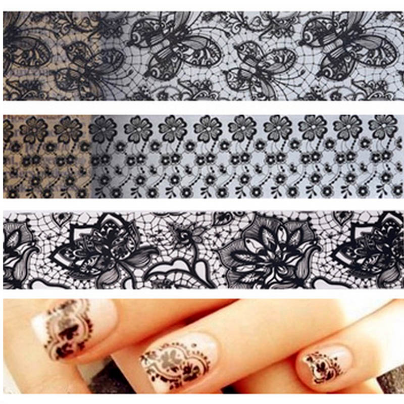 Beauty Stickers for Nails Lace Nail Stickers All for Nails Design ...