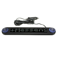 12V LED Car Programmable Message Sign Moving Scrolling Display Board W/ remote White