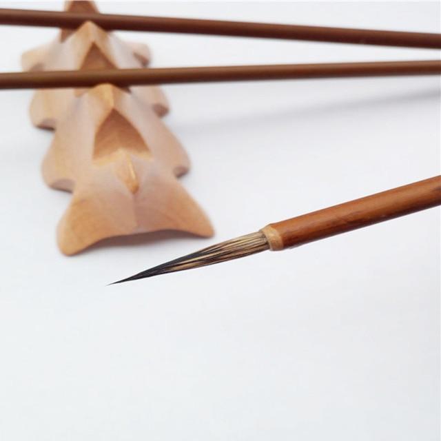 6 Stks/set, Fijne handgeschilderde Haak Lijn Pen Tekenpen Art Pen grijs konijn haar Schrijven borstel Art levert Schilderen Materialen