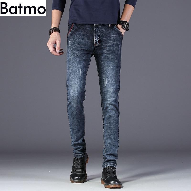 Batmo 2020 Новое поступление высококачественные повседневные тонкие эластичные джинсы для мужчин, мужские узкие брюки, обтягивающие джинсы для мужчин Z002 Джинсы      АлиЭкспресс
