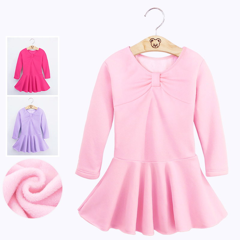 Autumn Winter Girls Velvet Ballet Dance Dress Children Thick Warm Gymnastic Dance Practice Costumes Ballet Tutu With Shorts