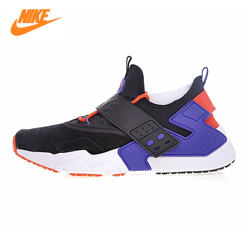Nike Air Huarache Drift Men's Running Shoes , Outdoor Sneakers Shoes,Blue & Black,Non-slip Lightweight Breathable AH7335 002 mulinsen men s running shoes blue black red gray outdoor running sport shoes breathable non slip sport sneakers 270235