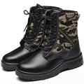 2016 Homens Trabalham & Camuflagem Botas De Biqueira De Aço de Segurança Sapatos Masculinos Inverno Quente Desgaste-Resistente a Óleo À Prova D' Água Sapatos de Combate Big Tamanho36-46