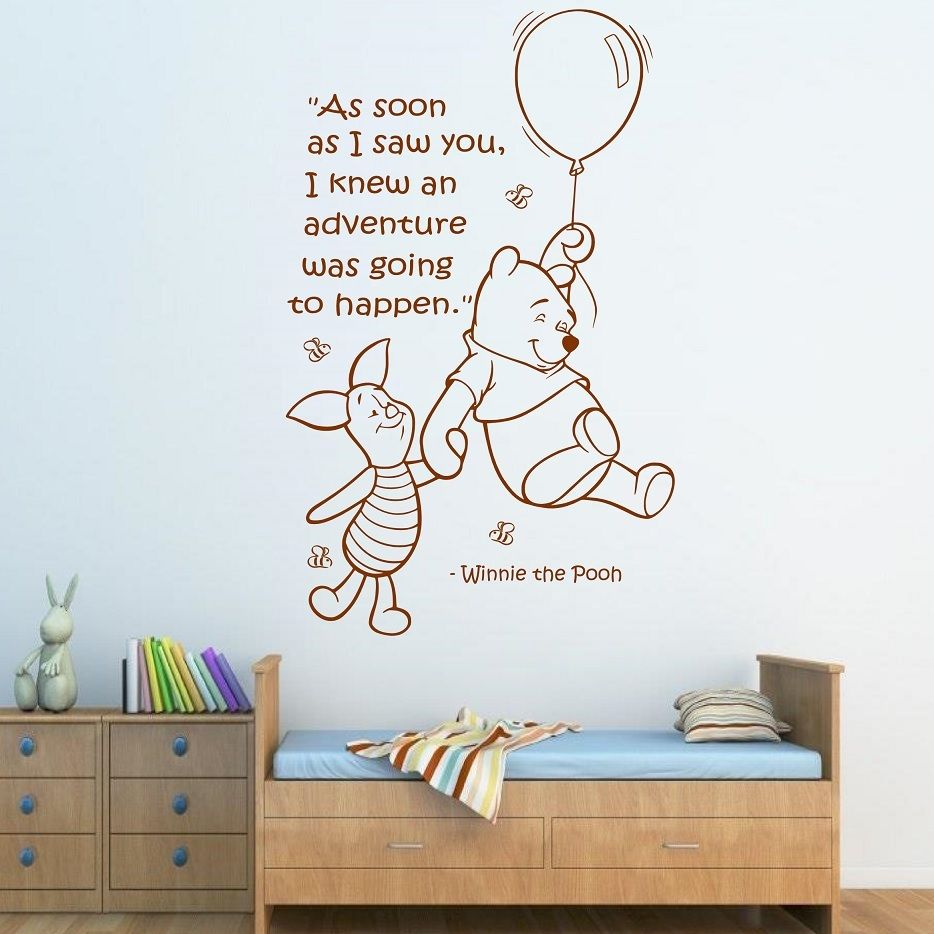 Detail Feedback Questions About Free Shipping Quote Winnie The Pooh Wall Sticker Art S Boys Baby Room Nursery Home Decor Decal X200 On Aliexpress