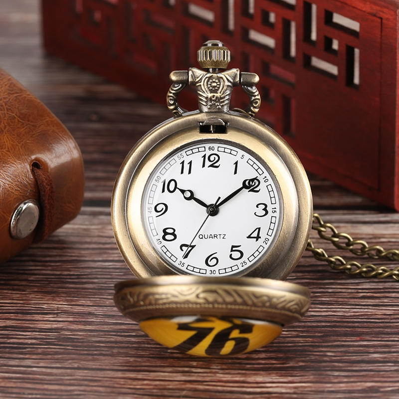 Fallout 76 Vault 111 FALLOUT 4 Theme Quartz Pocket Watch Pendant Retro Bronze Chain Necklace Unique Souvenir Gifts for Game Fans (4)