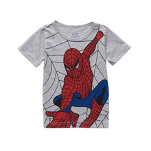 Children T Shirts baby Boys girls Kids T-Shirt Clothing cartoon for spider man 100% cotton clothes costume free shipping