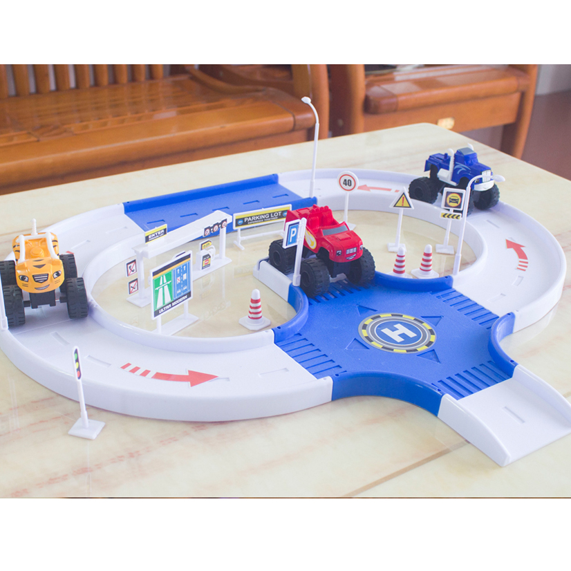 DIY Monster Machines Russia Kid Toy Blazes Miracle Track Cars Blaze Vehicle Car Road Model Toys Best Gifts For Kids