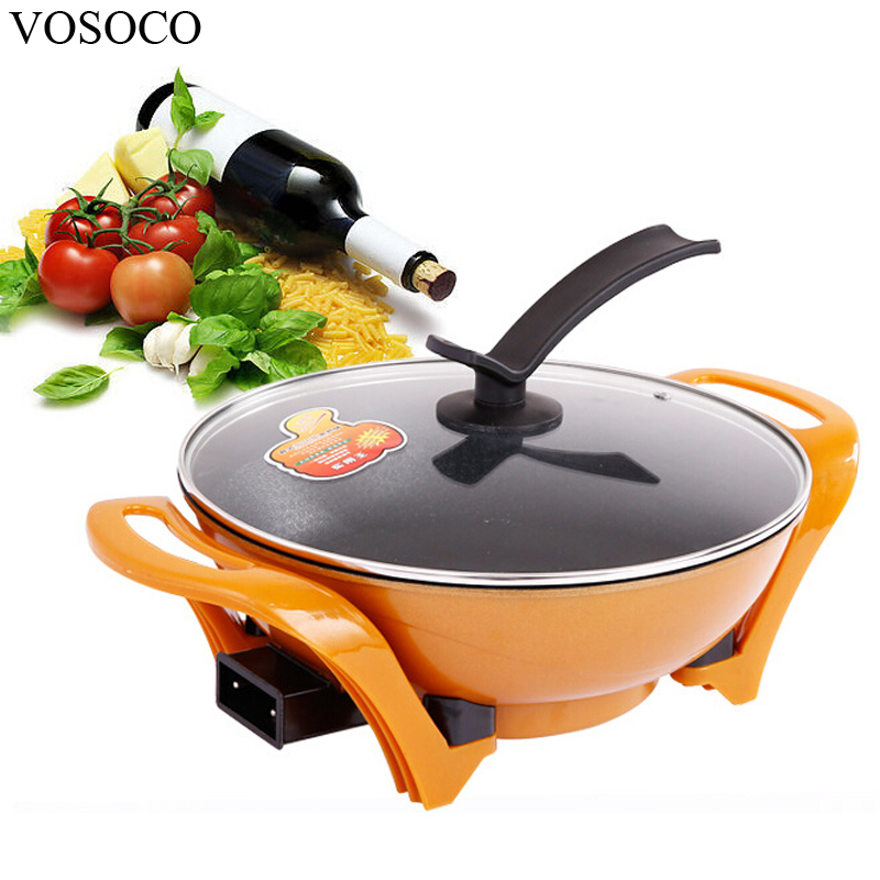 VOSOCO Electric Hot pot chaffy dish Electric boiler caldron Cooking 6L 1800W 220V Multi-function Noodles boiler heating pot