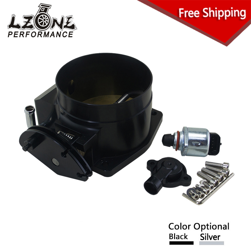 LZONE RACING - FREE SHIPPING for LSX LS LS1 LS2 LS6 92mm throttle body + TPS IAC Throttle Position Sensor JR6937+5961 free shipping new throttle body 92mm for gm gen iii ls1 ls2 ls6 throttle body for ls3 ls ls7 sx ls 4 bolt cable vr6937