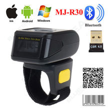 MJ-R30 Mini Bluetooth Portable Anneau 2D Scanner de Codes À Barres Lecteur Pour IOS Android Windows PDF417 DM QR Code 2D Sans Fil Scanner