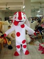 Professional dog white red  spots mascot Fancy Dress Costume Adult Size EPE Suit mascot costume